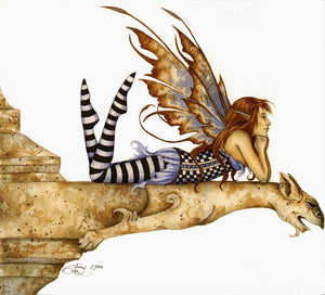 Amy Brown Gargoyle III Fairy Print -- Limited Edition