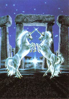Susan Dawe Gateway of Unicorns Greeting Card