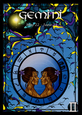 Astrology Gemini Greeting Card