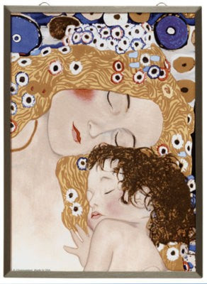 Glassmasters Klimt Mother and Child Three Ages of Woman Stained Glass