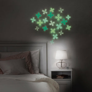 Umbra Glow in the Dark Wall Flowers in Assorted Colors