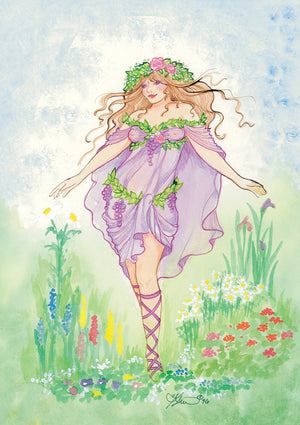 Karen Bagnard Goddess of the Garden Greeting Card