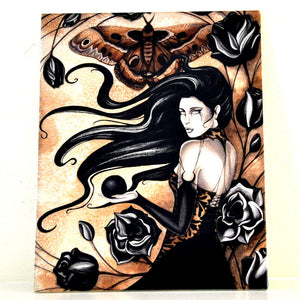 Jessica Galbreth Gothic Rose Ceramic Tile Art -- Limited Edition