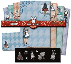 Grace Slick Alice in Wonderlands White Rabbit Stationery Set