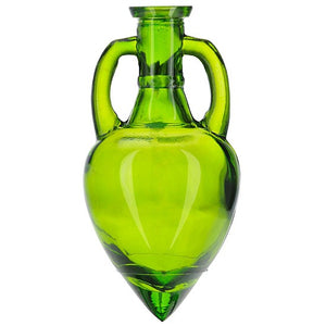 Amphora Glass Bottle Vase with Pour Spout and Metal Stand
