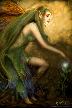 Renee Biertempfel Green Magic Fairy Art Print