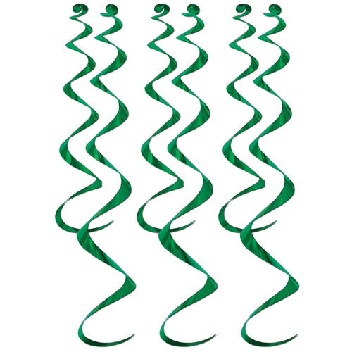 36 Green Twirly Whirly Decorations