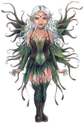 Delphine Levesque Demers Green Corset Fairy Sticker
