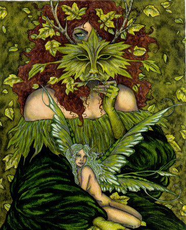 Amy Brown Greenwoman Fairy Print, 8 x 10