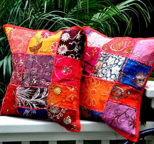 Bohemian Pillow Cover -- Gypsy Red