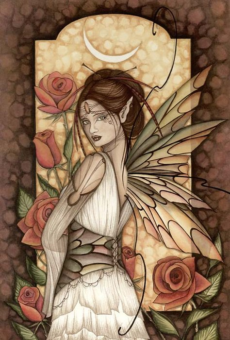 Jessica Galbreth Gypsy Rose Fairy Matted Print --  11 x 14