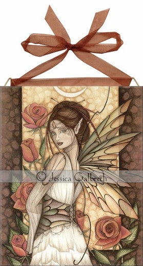 Jessica Galbreth Ceramic Tile Art -- Gypsy Rose