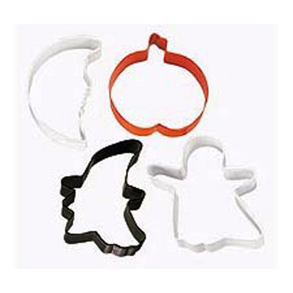 4 Halloween Metal Cookie Cutters