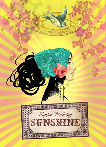 Happy Birthday Sunshine Greeting Card by Papaya