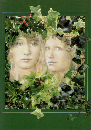 Linda Garland Holly + Ivy Greeting Card
