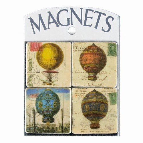 French Hot Air Balloon Vintage Style Magnets