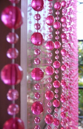 Pink Beaded Curtains tagged