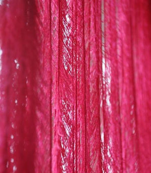 Feathered Fringe String Curtain in 5 Color Choices, Ivory, White, Pink, Fuchsia, or Black
