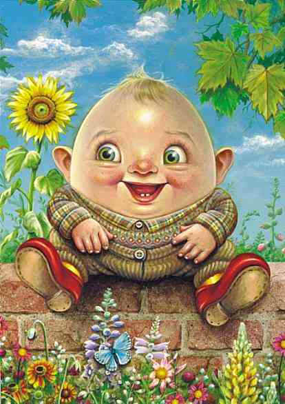 Wholesale Maxine Gadd Humpty Dumpty Print -- Set of 6