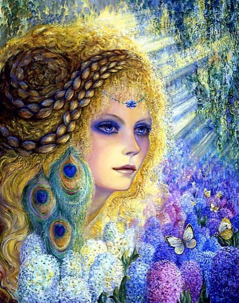 Josephine Wall Hyacinth Cross Stitch Pattern Chart
