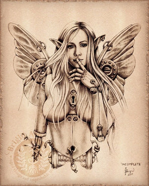Brigid Ashwood Steampunk Fairy Print -- Incomplete