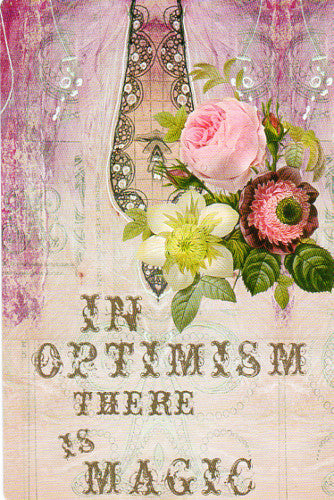 Papaya In Optimism There is Magic Postcard