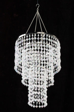Iridescent Clear Gemstone Beaded Chandelier