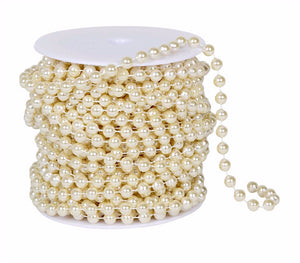 8mm Ivory Pearl Bead Spool -- 99 Feet