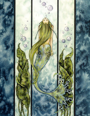 Amy Brown Jade Mermaid Greeting Card