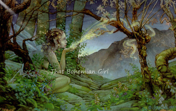 James Browne Signed Dawn Fairy Matted Print
