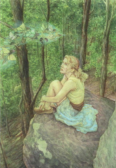 James Browne Signed High Point Fairy Matted Print