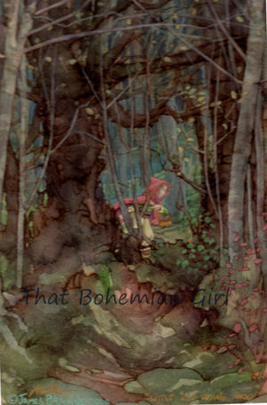James Browne Signed Little Red Riding Hood Matted Print