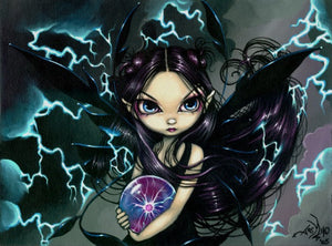 Jasmine Becket Griffith Bringer of Lightning Fairy Print