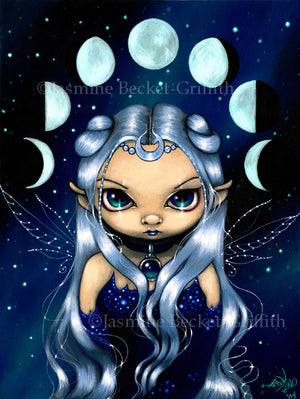 Jasmine Becket Griffith Fairy of Changing Moons Print