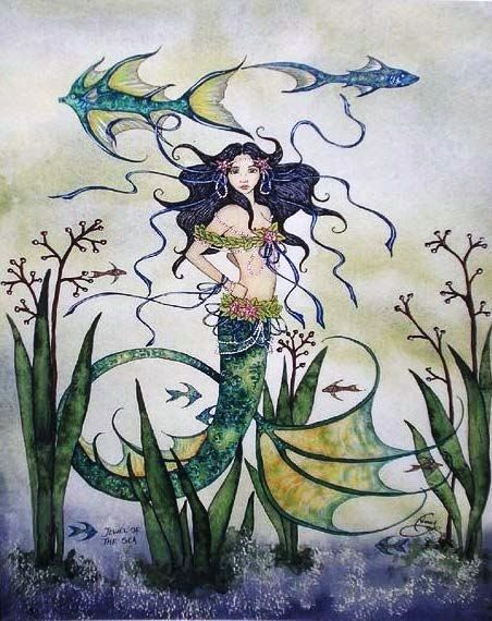 Amy Brown Jewel of the Sea Mermaid Print