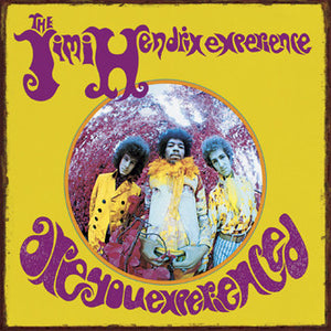 The Jimi Hendrix Experience Are You Experienced Metal Sign -- Authentic Album Cover Reproduction