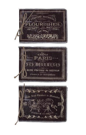 6 Wholesale Canvas Covered Paris Journals