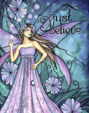 Jessica Galbreth Just Believe Fairy Matted Print --  11 x 14