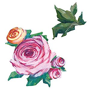 Wallies Kate's Pink Roses and Leaves Wallpaper Cutouts