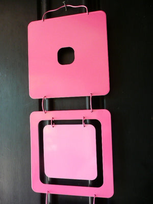 Kenneth Wingard Pink Mobileo Metal Linking Panels , Set of 9