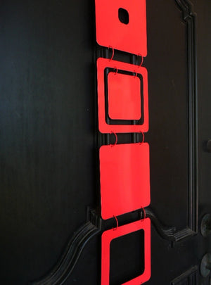 Kenneth Wingard Mobileo Red Metal Linking Panels , Set of 9