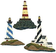 Wallies Warren Kimble Lighthouse Wallpaper Cutouts