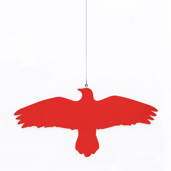 Hanna Bjarnadottir Raven Bird on a Wire Hanger -- Red