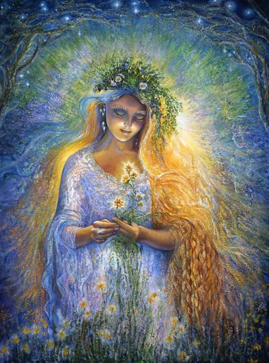 Josephine Wall Lady Galadriel Love Greeting Card