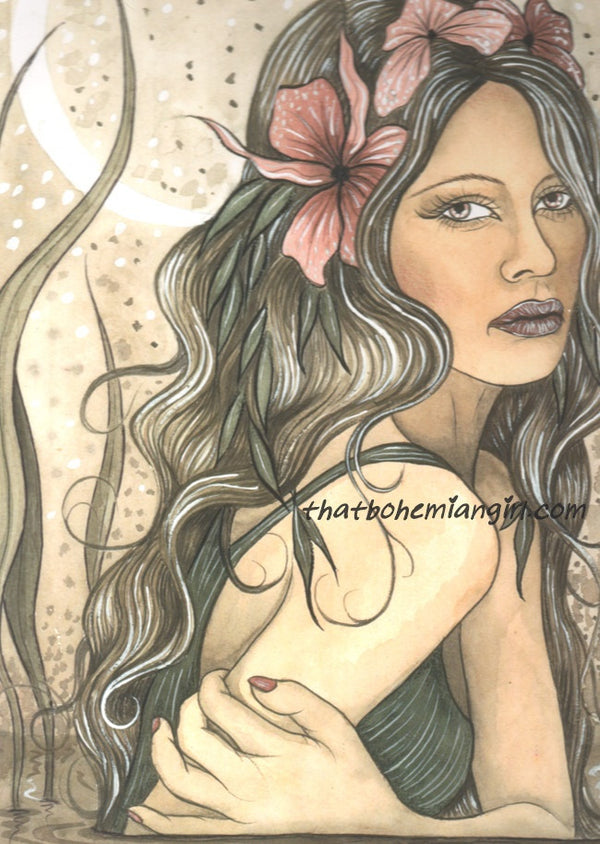 Jessica Galbreth Lady of the Lake Limited Edition Signed Print -- 11 x14