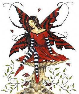 Amy Brown Ladybug Keeper Fairy Print
