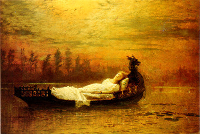 John Atkinson Grimshaw Lady of Shalott Art Card