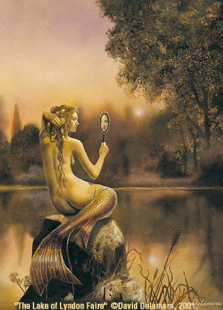 5 David Delamare Mermaid Lake of Lyndon Faire Greeting Cards