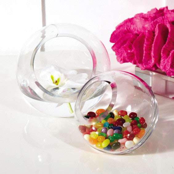100mm Glass Ball Tabletop Candle Holder Vase