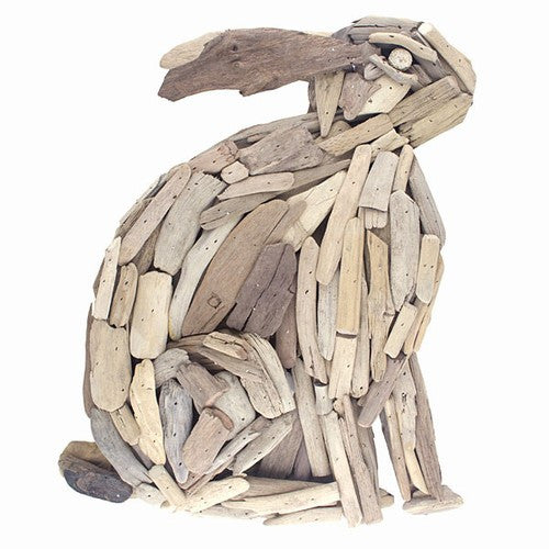 Driftwood Rabbit    Large Wall Decor